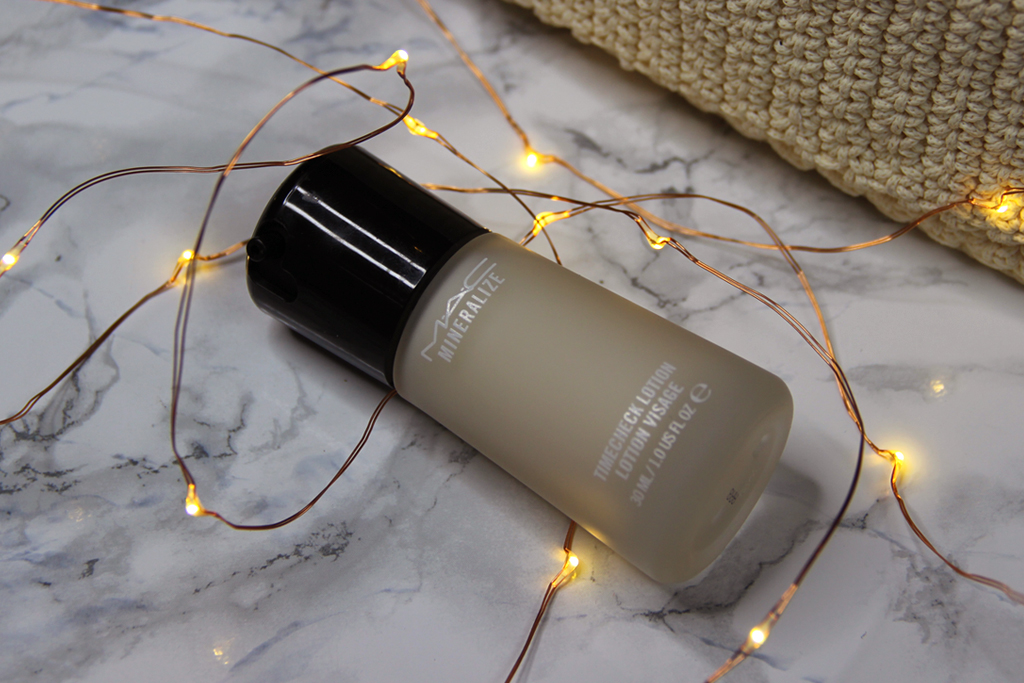 timecheck lotion mac cosmetics recensione